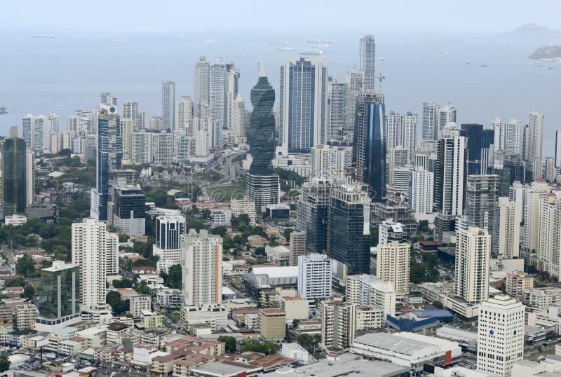 Flyg- sikt av Panama City, Panama royaltyfri foto