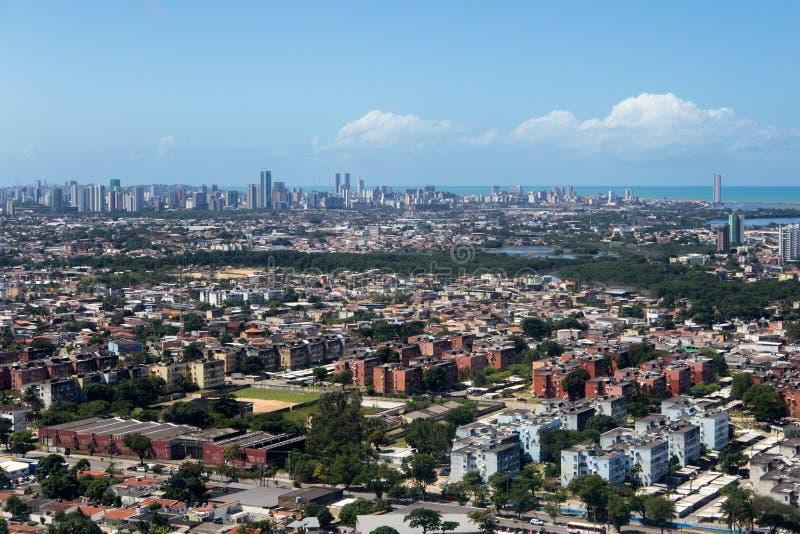 Flyg- sikt av Pernambuco - Brasilien royaltyfri fotografi