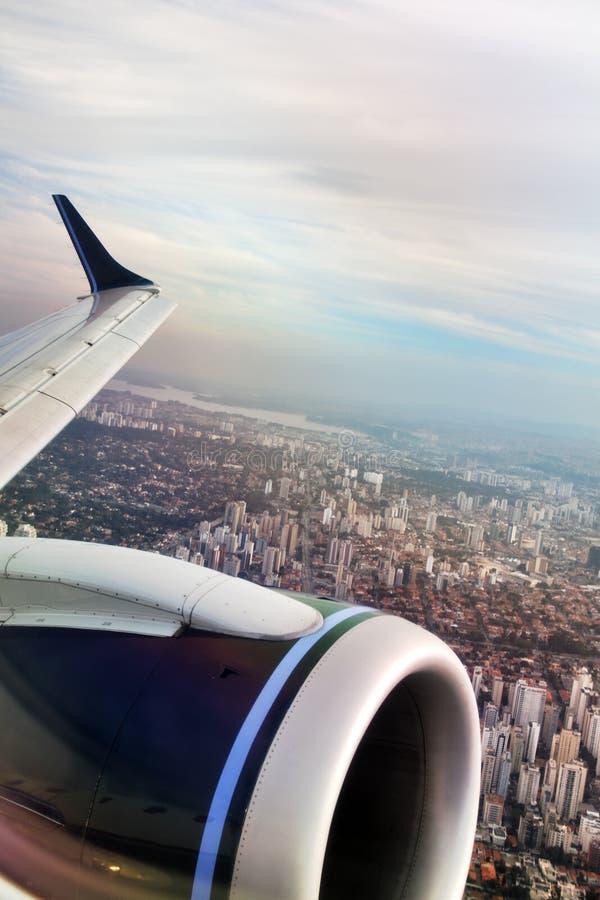 Flyg- sikt av SaoPaulo-SP Brasilien royaltyfria bilder