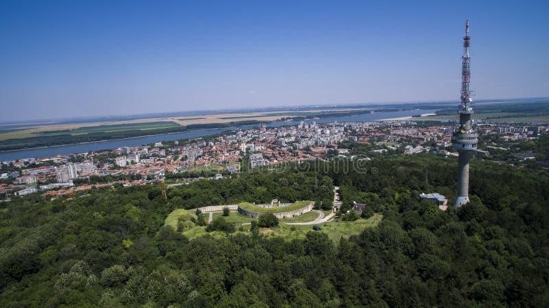 Flyg- sikt av Silistra, Bulgarien fotografering för bildbyråer