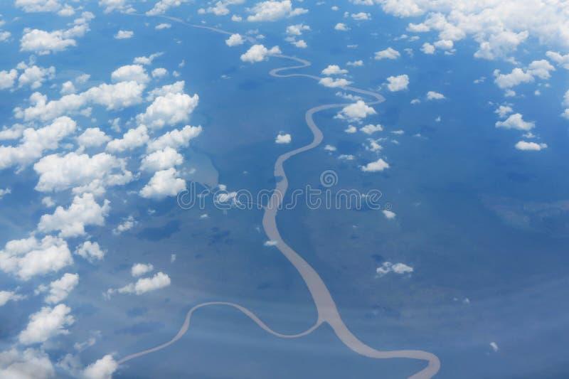Flyg- sikt av skogen i Panama royaltyfria foton