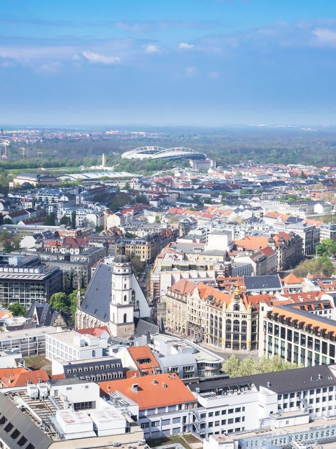 Flyg- sikt av staden Leipzig royaltyfria bilder