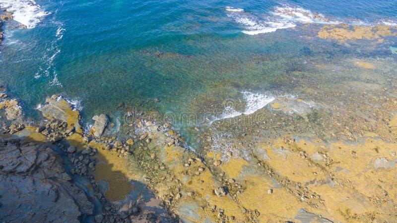 Flyg- sikt av stranden, Australien royaltyfria bilder