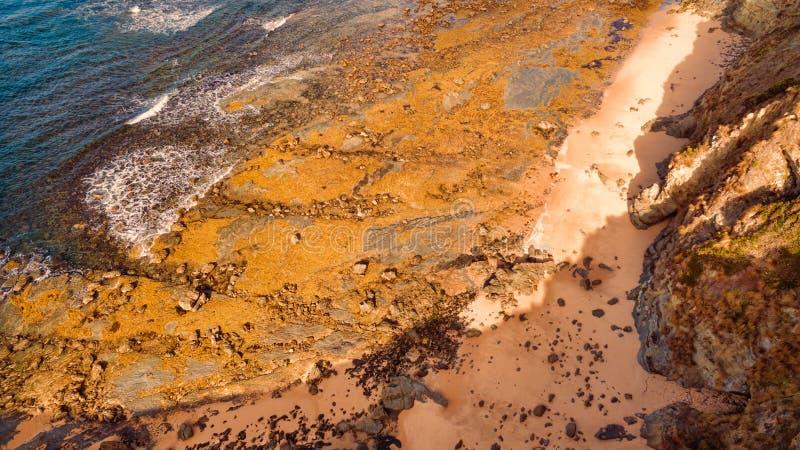 Flyg- sikt av stranden, Australien arkivfoto