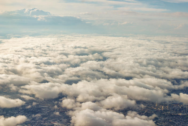 Flyg- sikt av Sydney, Australien, foto som tas, precis innan att landa arkivfoto