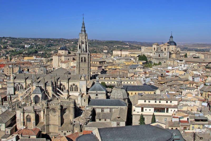 Flyg- sikt av Toledo Toledo Cathedral spain toledo royaltyfri bild