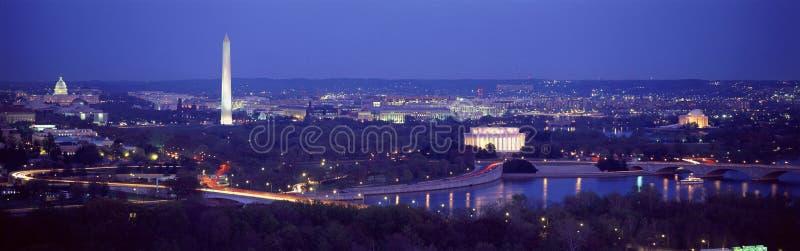 Flyg- sikt av Washington arkivfoto