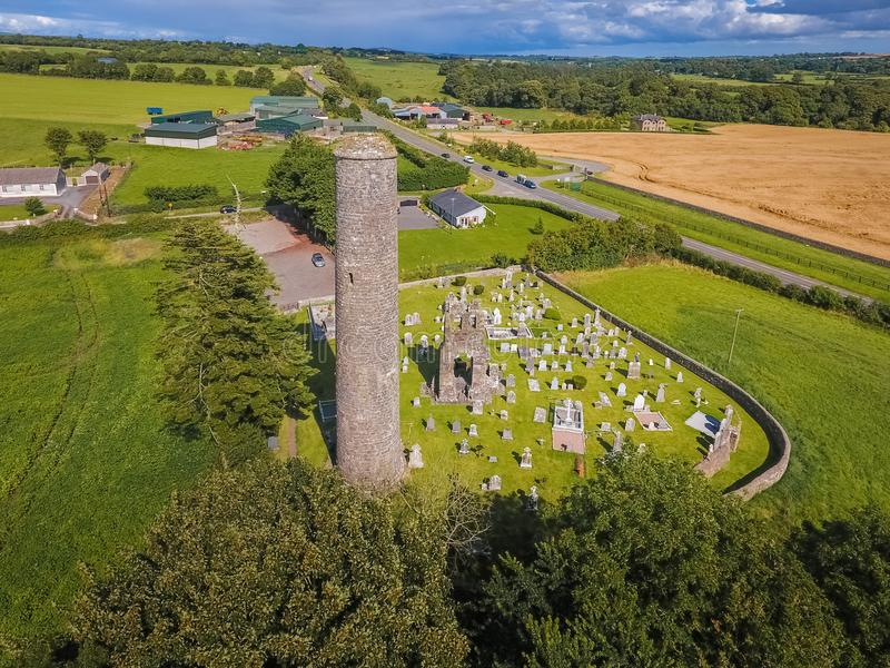 flyg- sikt Donaghmore rundatorn Navan Co Meath ireland royaltyfri bild