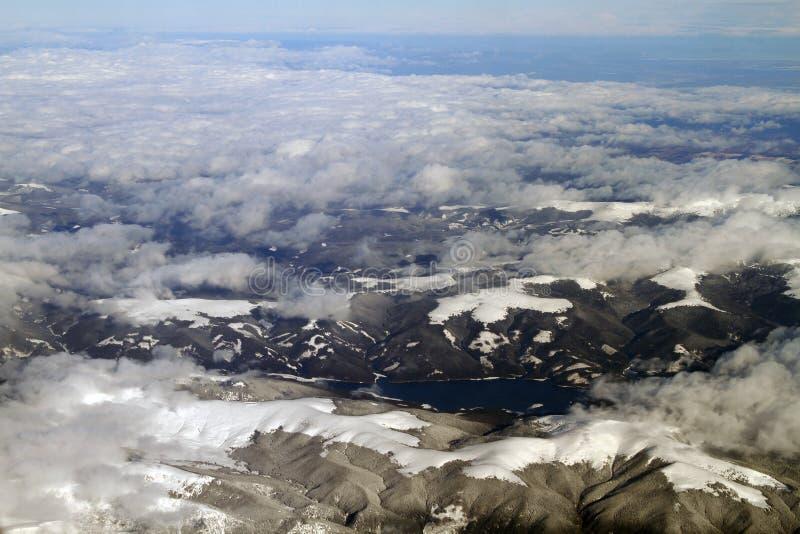 Flyg- sikt för berg arkivbilder