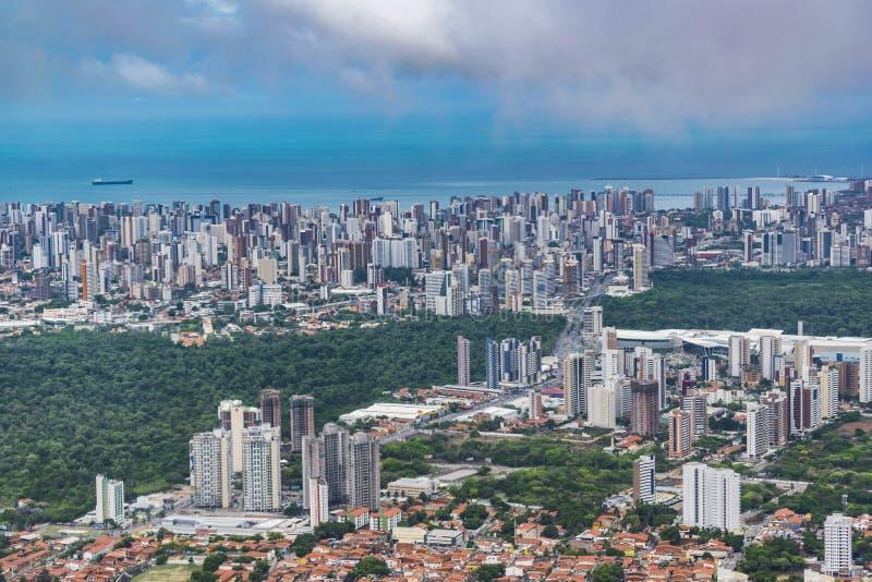 Flyg- sikt för Fortaleza Cityscape royaltyfri foto