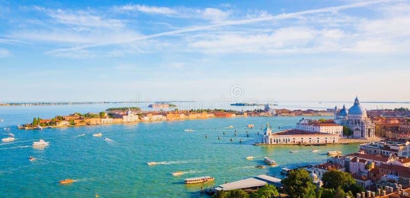 Flyg- sikt för härlig panorama av Venedig royaltyfria bilder