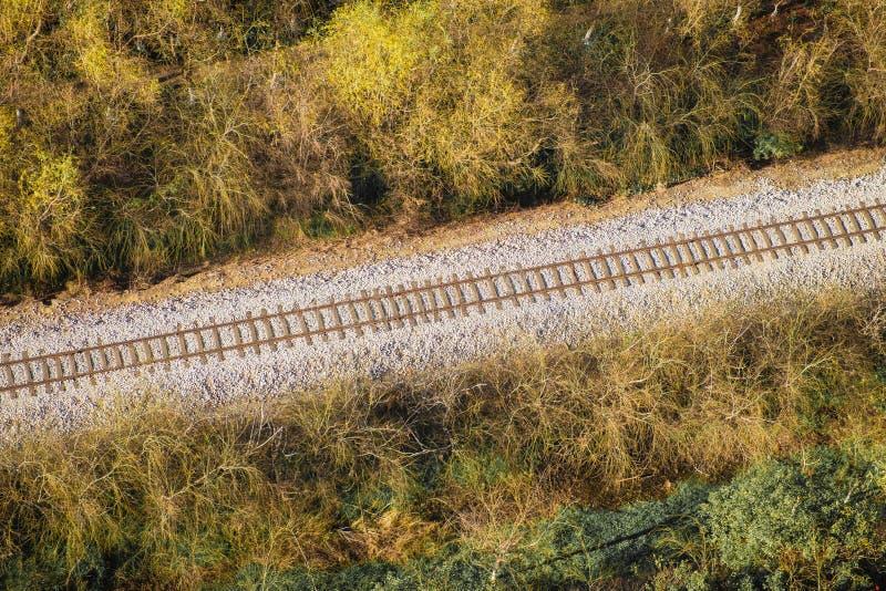 Flyg- sikt för järnväg arkivbilder