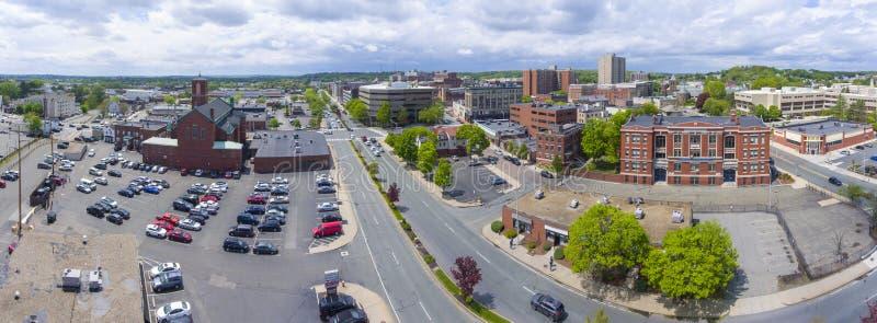 Flyg- sikt för Malden stad, Massachusetts, USA fotografering för bildbyråer