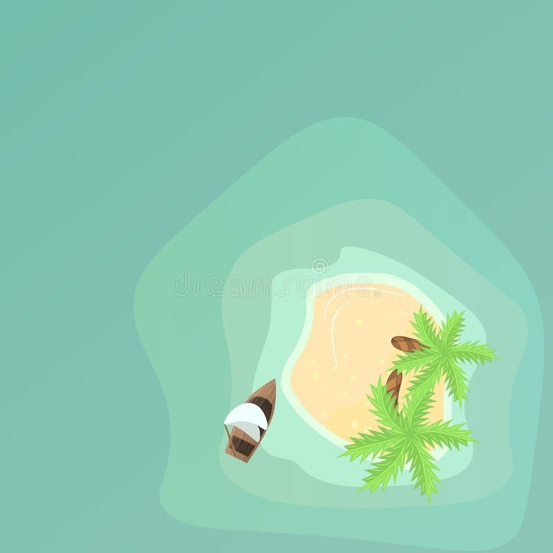 Flyg- sikt för paradisö royaltyfri illustrationer