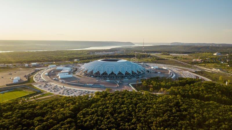 Flyg- sikt för stadion arkivbilder