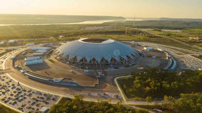 Flyg- sikt för stadion arkivbild