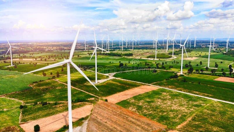Flyg- sikt från turbinen för flygsurrvind royaltyfria foton