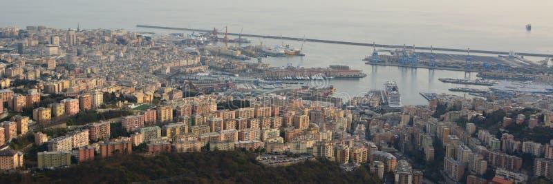 flyg- sikt Genova Liguria italy arkivfoton