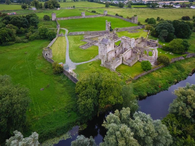 flyg- sikt Kells priorskloster ståndsmässiga Kilkenny ireland royaltyfri foto