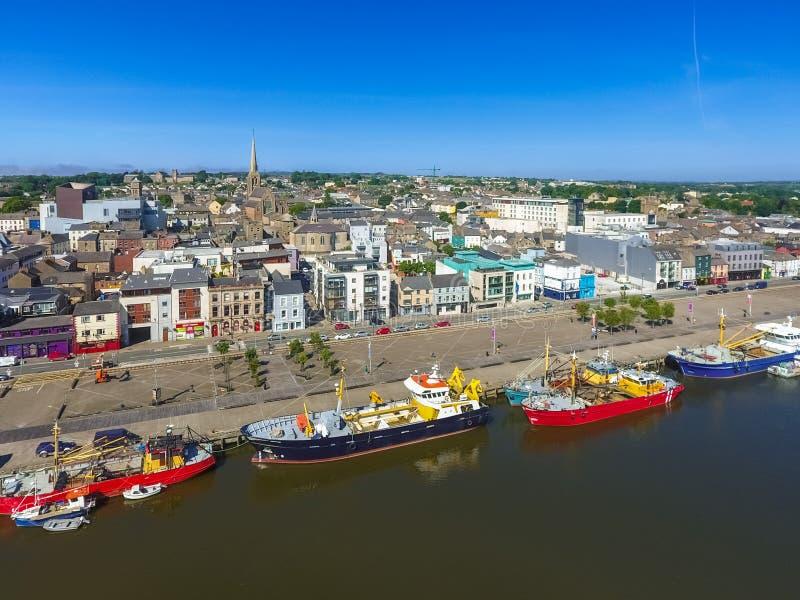 flyg- sikt Wexford stad Co Wexford ireland arkivbild