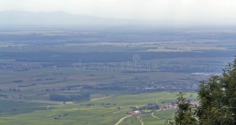 flyg- slotthautkoenigsbourg nära sikt arkivfoto