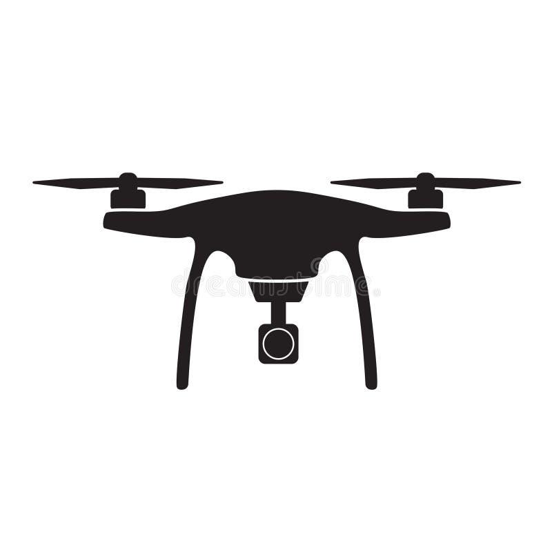 Flyg- surr med kamerasymbolen stock illustrationer