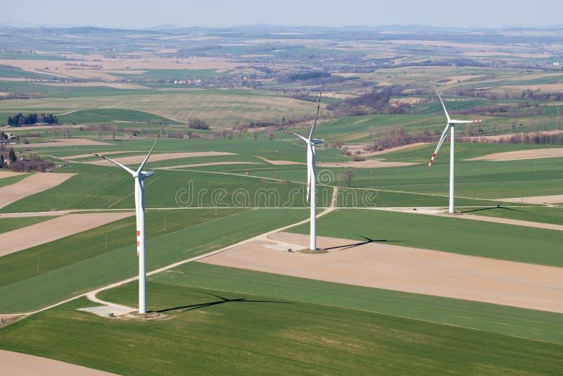 flyg- turbiner visar wind fotografering för bildbyråer
