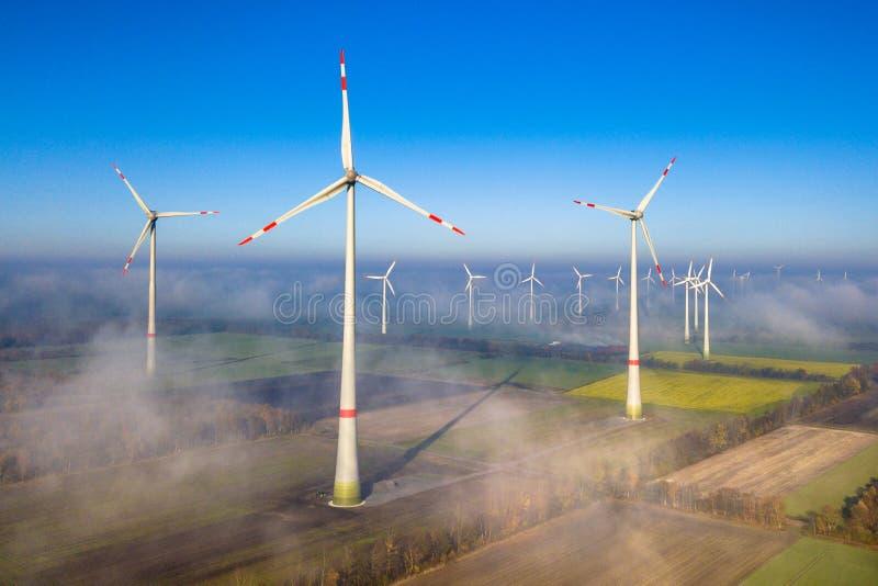 flyg- turbiner visar wind arkivbild