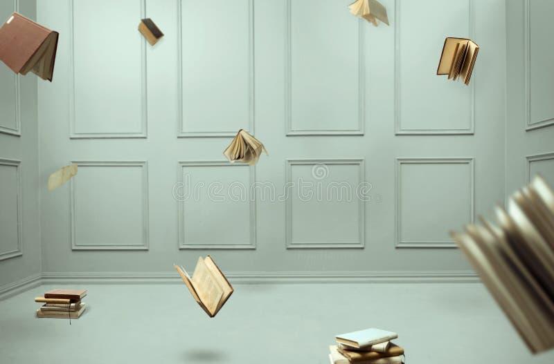 Flyga böcker royaltyfri fotografi