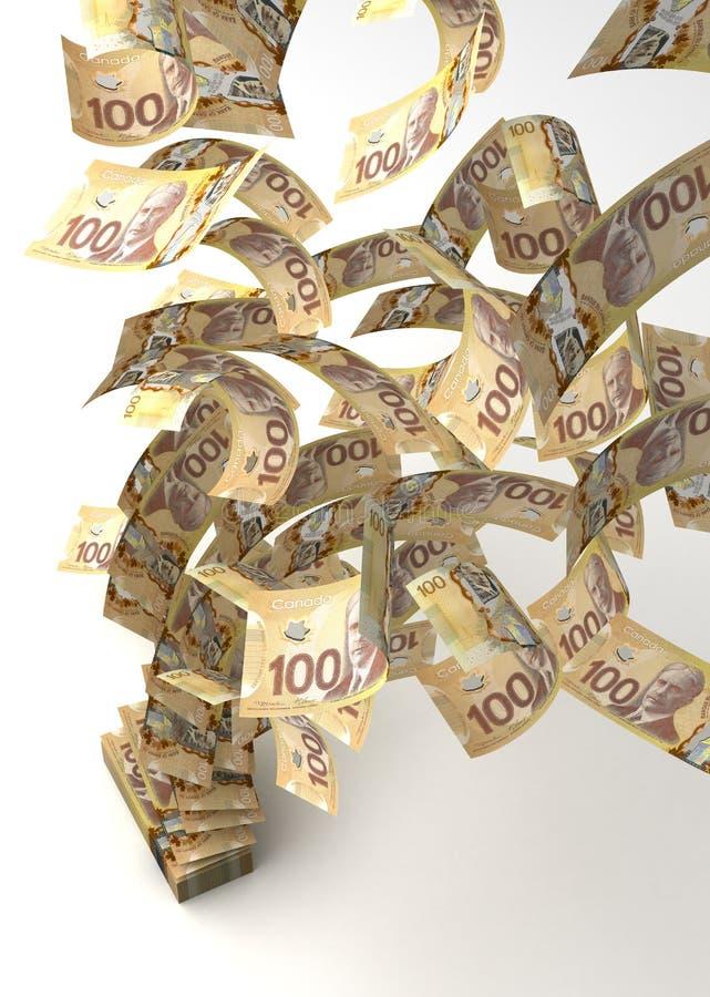 Flyga den kanadensiska dollaren vektor illustrationer