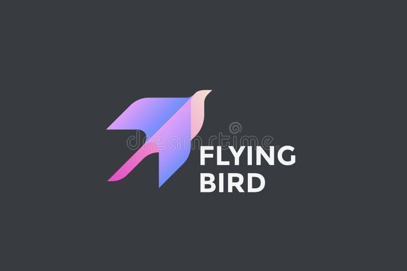 Flyga design geometriskt s för logo för Eagle fågel abstrakt vektor illustrationer