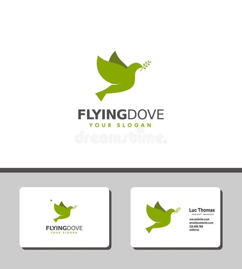 Flyga duvalogo royaltyfri illustrationer