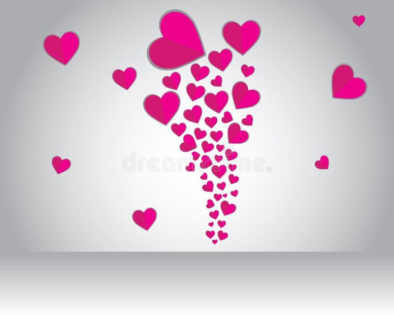 Flyga förälskelse på valentin stock illustrationer