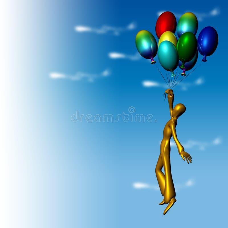 flyga för ballons vektor illustrationer