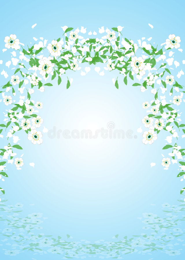 flyga för blommor stock illustrationer