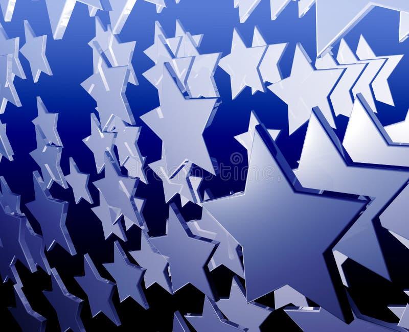 flyga många stjärnor vektor illustrationer