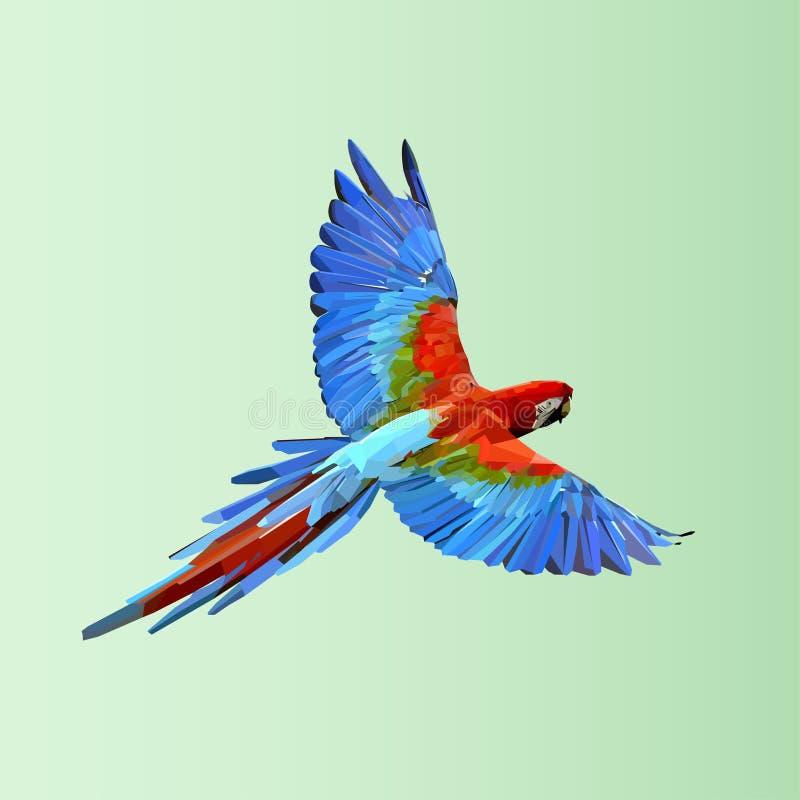 Flyga papegojan vektor för semester för färgrik begreppsillustration avslappnande royaltyfri illustrationer