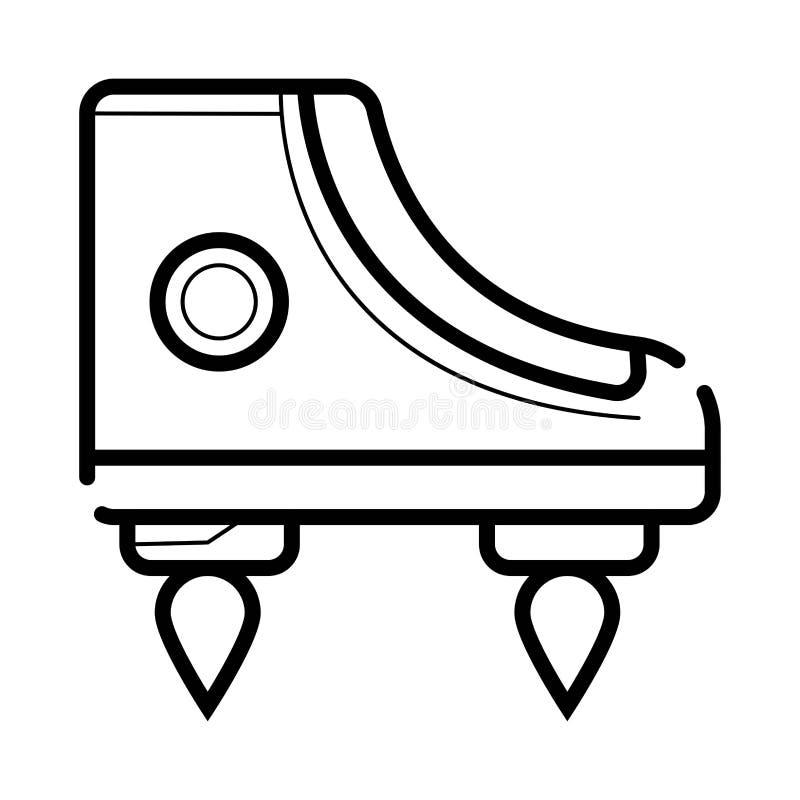 Flyga skosymbolen vektor illustrationer