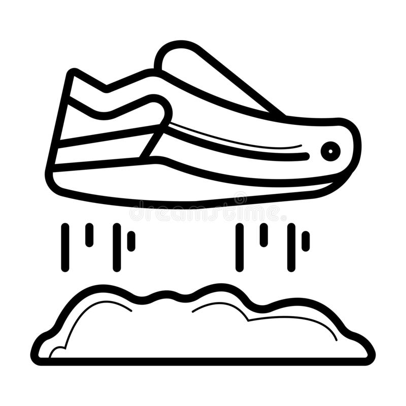 Flyga skosymbolen royaltyfri illustrationer
