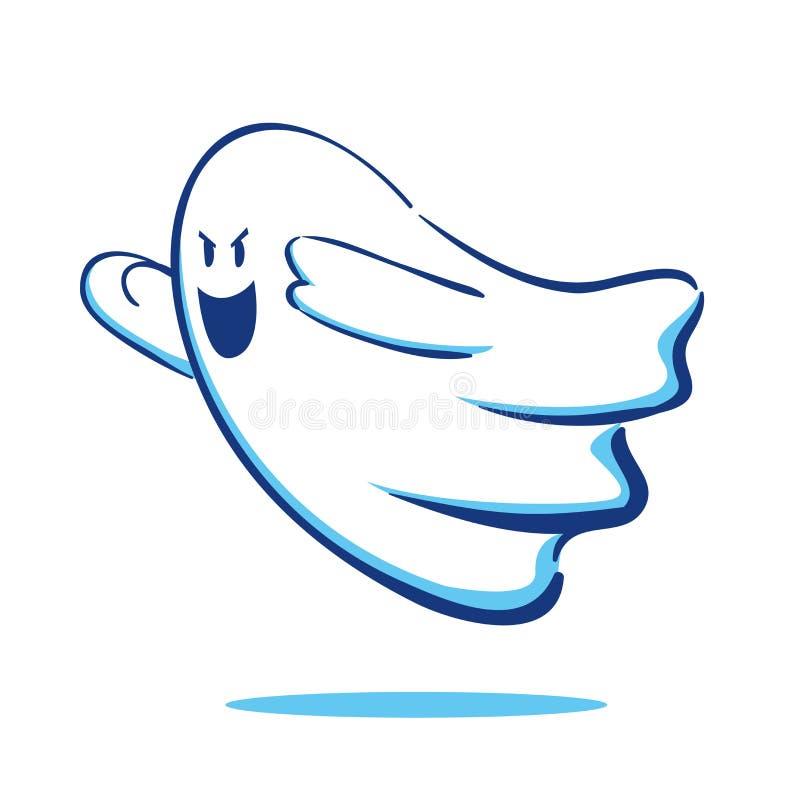 Flyga spöken vektor illustrationer