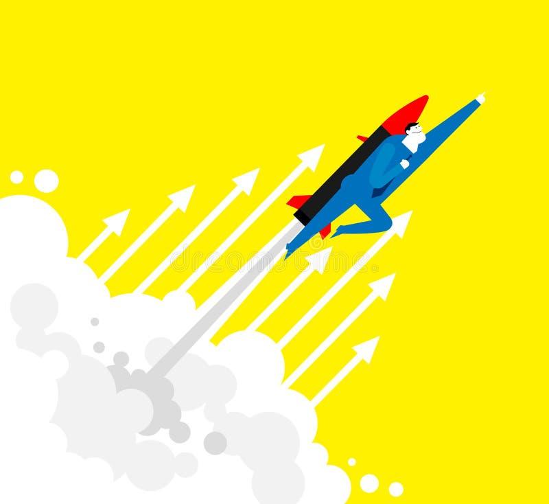 Flyga UPP! stock illustrationer