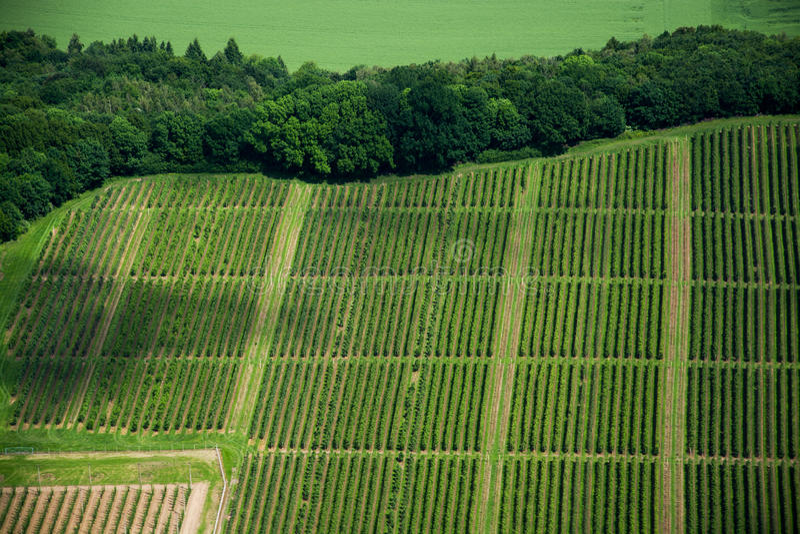 Flygbild av områden, Tyskland arkivbilder