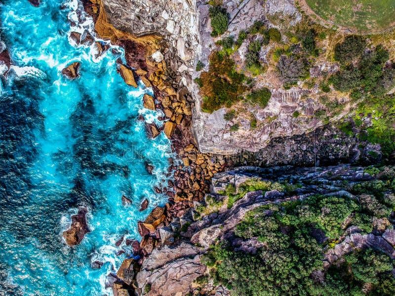 Flygbild av Sydney - Diamond Bay royaltyfria bilder
