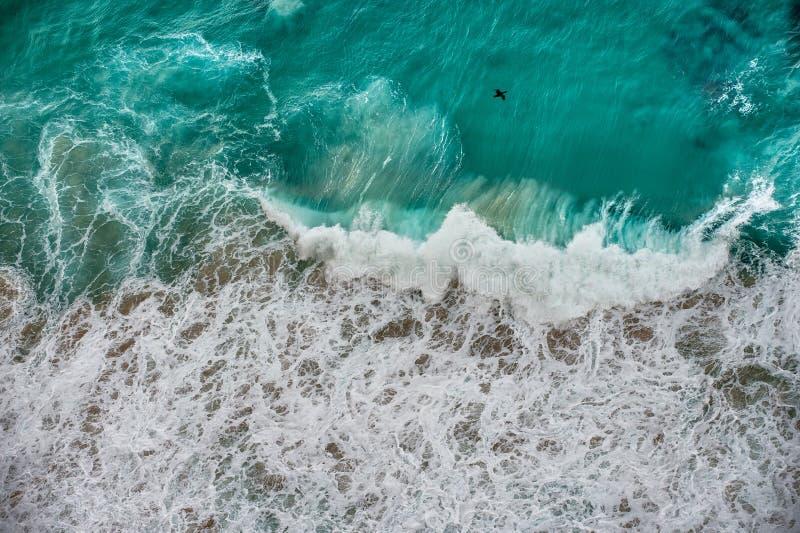 Flygbild för bästa sikt av havet royaltyfri bild
