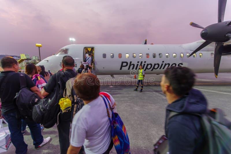 Flygbolag för September 30,2017 turistlogi på den Manila flygplatsen arkivfoton