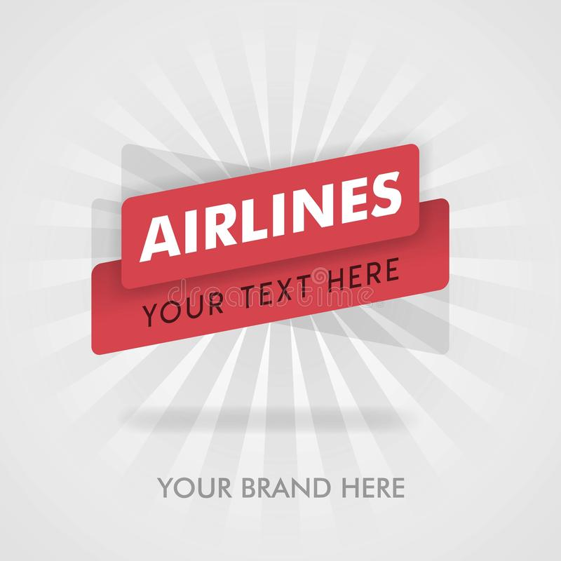Flygbolagbaner för Amerika, flygbolagmatkokbok för kunder vara för befordran och att annonsera, kan marknadsföringen passande för vektor illustrationer