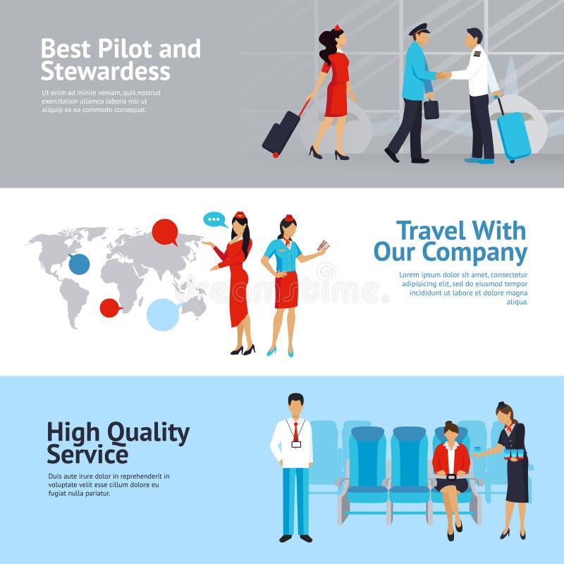 Flygbolagbaneruppsättning stock illustrationer