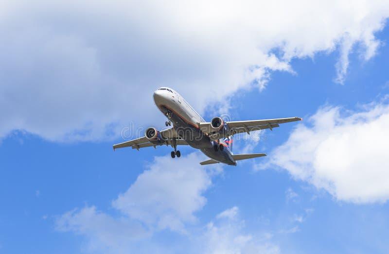 Flygbolagen för flygplanAeroflot ryss royaltyfria bilder