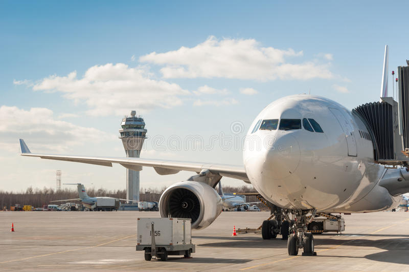 Flygbuss A330-200 royaltyfri foto