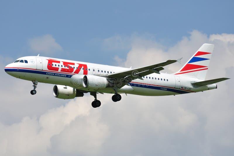Flygbuss A320-214 arkivfoto